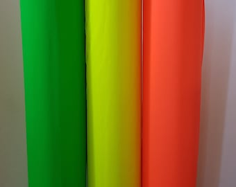 Neon Reflective Cotton-Rich WOVEN Fabric, High-Vis, High Visibility, kid safety, fluorescent