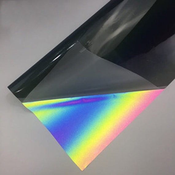 A4 sheets Rainbow Iridescent Reflective High-Vis Leatherette Fabric for Crafts