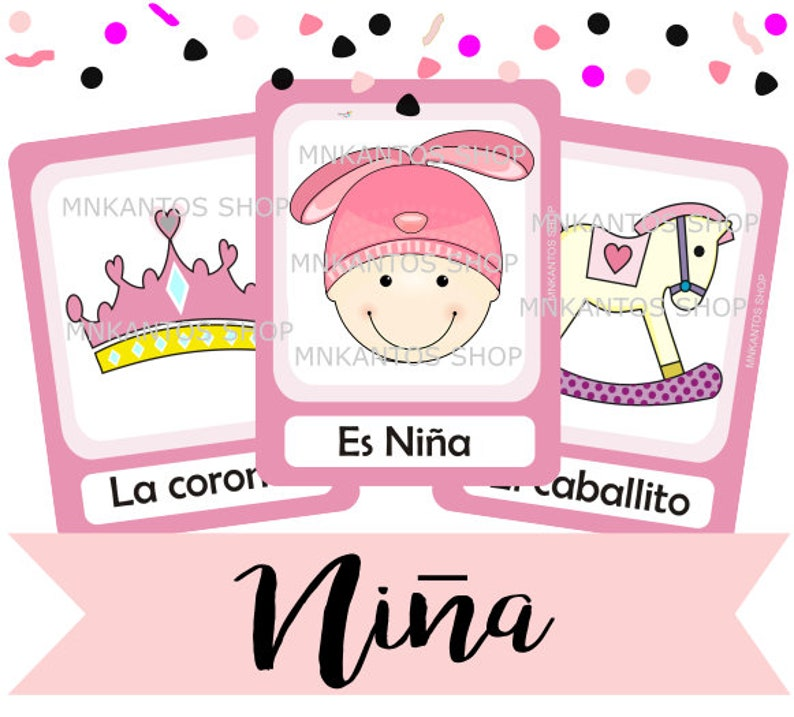 Loteria Baby Shower Nina Girl Espanol Kit Imprimible Digital Etsy