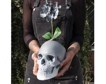 Skull Plant / Skull Decor / Wedding Decor / Skull Plant Pot / Skull Pot / Skull / Skull Flower / Skulls / Skull Flowers
