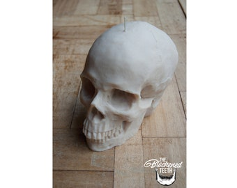 Skull Candle / Large Skull Candle / Vegan Candle / Skull Decor / Skull / Candle / Goth Home Decor / Candles / Skull Candles