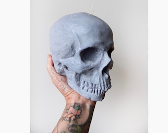 Skull Candle / Large Skull Candle / Vegan Candle / Skull Decor / Skull / Candle / Gothic Home Decor / Candles / Skull Candles