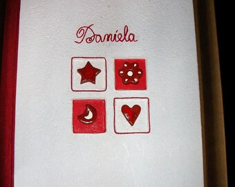 Photo album for Valentine's Day - decoration in felt, thread and paper