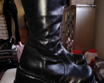 49207460f5b0 90 s vintage tall huge platform boots by Demonia vtg women s 10