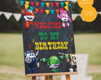 Super Wings Poster Etsy