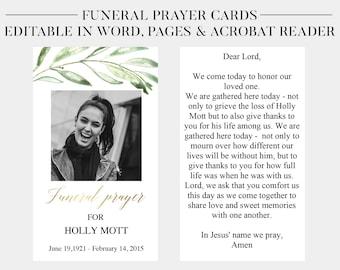 memorial card etsy
