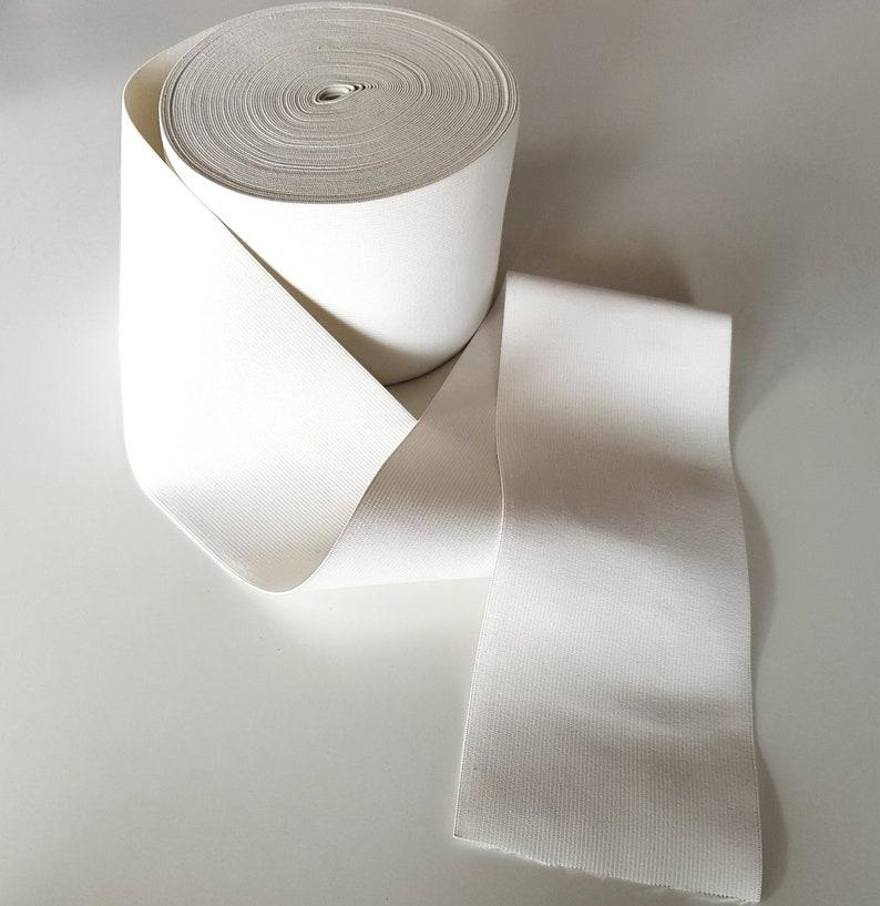 1 meter of extra 12cm wide white elastic