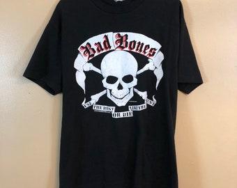 Vintage 1991 Bad Bones skull T Shirt