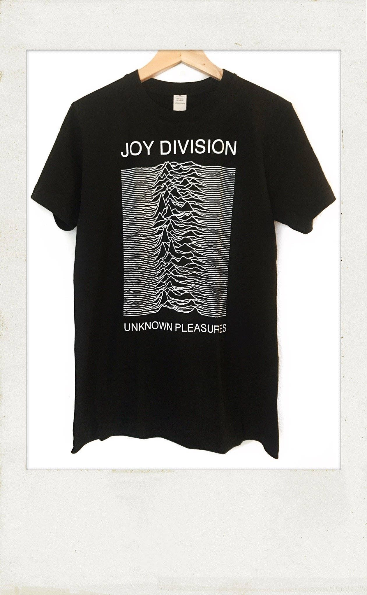 joy division unknnown pleasures t shirt etsy. Black Bedroom Furniture Sets. Home Design Ideas