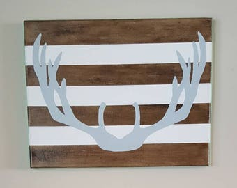 Antler Silhouette on Canvas