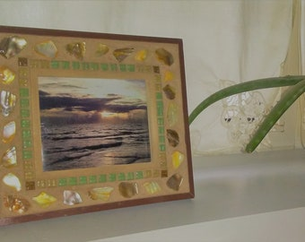Rustic Mosaic Photo Picture Frame