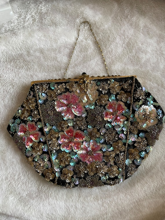 Sequined and beaded purse vintage