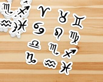 Horoscope Sign Stickers/decals - Aries, Taurus, Gemini, Cancer, Leo, Virgo, Libra, Scorpio, Sagittarius, Capricorn, Aquarius, Pisces