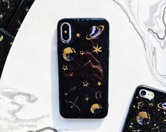 Black Holographic Space iPhone Case iPhone 6 case iPhone 6 plus case iPhone  8 case iPhone 7 plus case iPhone xs case iPhone xs Max case be0d8196d9