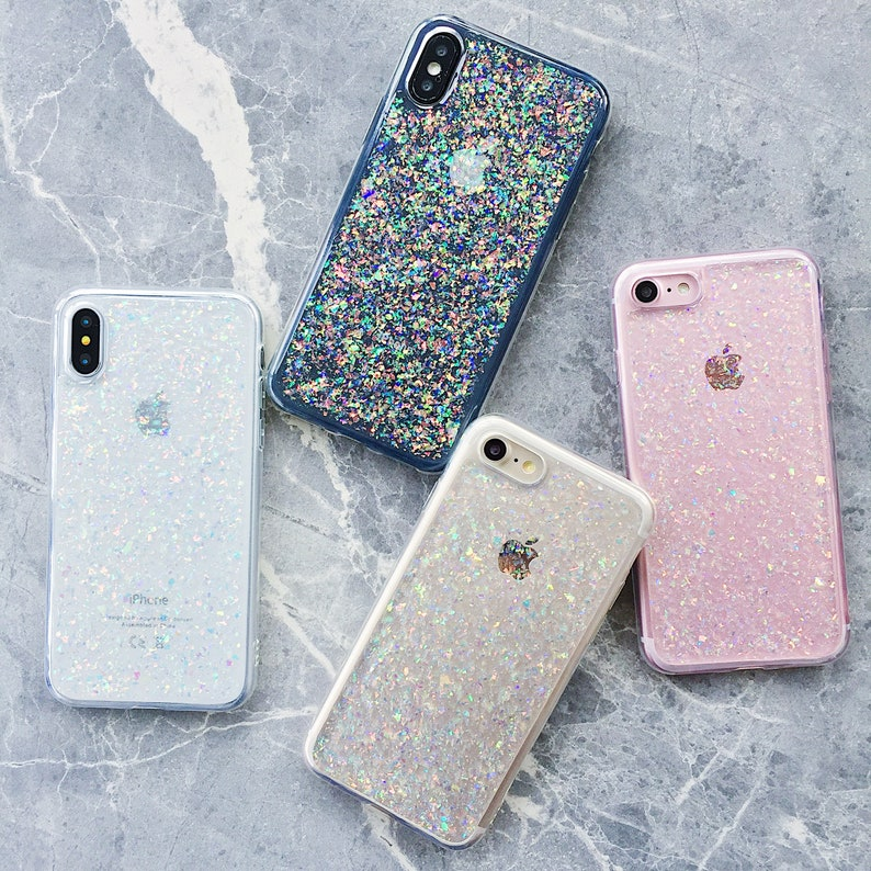 85f362dfd1b90 Holographic Opalescent Flakes iPhone case iPhone 6 case iPhone 6s plus case  iPhone 7 case iPhone 8 case iPhone 7 plus case iPhone X case XR