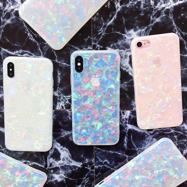 50787b76e4ea7 Glacier Holographic Marble iPhone case iPhone 6 case iPhone 6s case iPhone  7 case iPhone 8 case iPhone 8 plus case iPhone X case iPhone xr