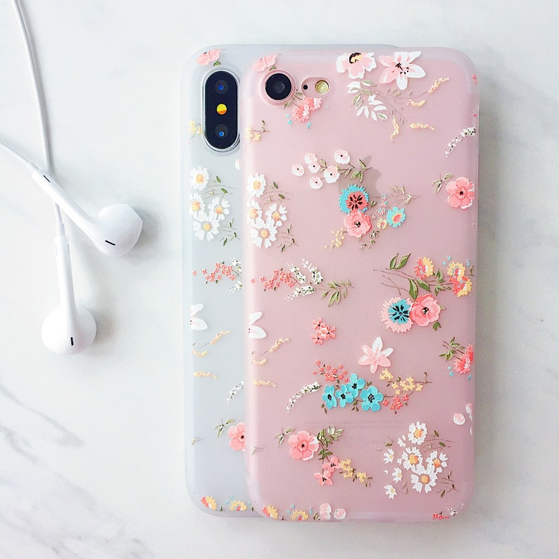 f49e77bddc10 Floral Daisy Bloom Soft Silicone iPhone Case iPhone 6 6s 6