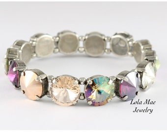 Winery Stretch Bracelet, Easy On, Easy Off, Stackable Bling!