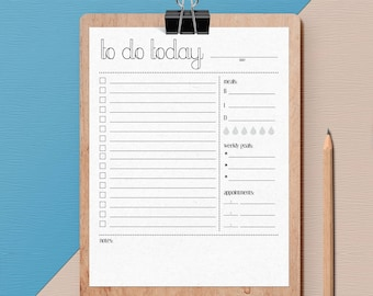 Minimalist To Do Daily Planner Printable PDF