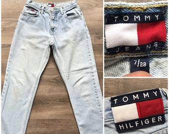 efba978930c4a Vintage 90s Tommy Hilfiger 1998 Light Wash Classic Tommy Jeans