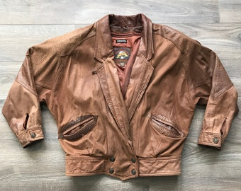 84b4bef352d Vintage 70s 80s Adventure Bound Thinsulate Distressed Leather Jacket
