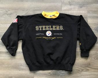 d7808fc83 Vintage Pittsburgh Steelers Black Lee Sport NFL Pullover Sweatshirt