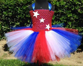 Fourth of July tutu dress - 4th of July - Independence day dress - Red white blue