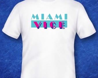 Miami Vice Tshirt 70s 80s TV film cult classic movie memorabilia