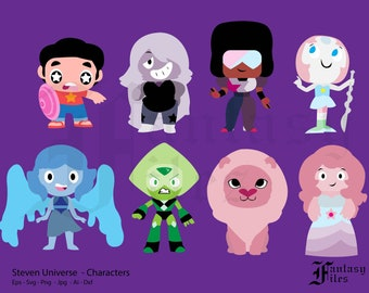 Steven Universe / Characters. svg/png/eps/jpg/ai/dxf. Instant DOWNLOAD