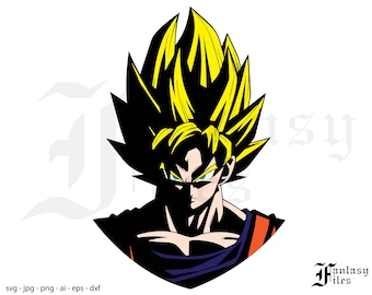 Dragon Ball Z. vector. svg/png/eps/jpg/ai/dxf. Instant DOWNLOAD