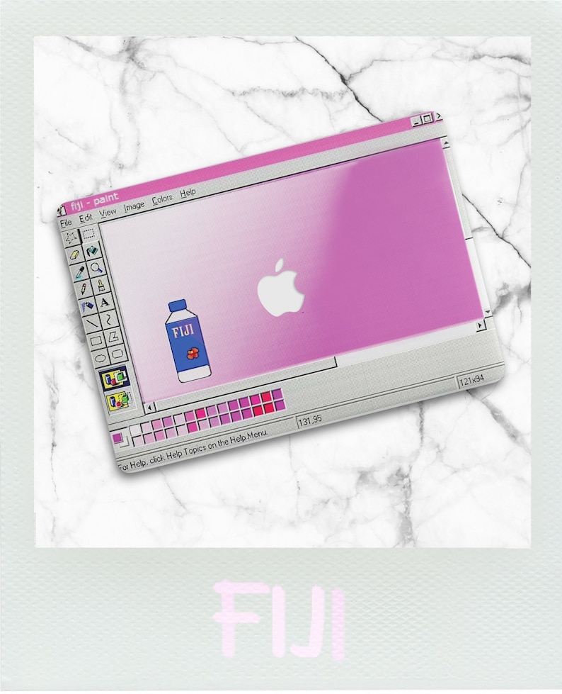 best website e9316 6709c Fiji Paint Macbook Case / Fiji Vaporwave Macbook Air Case / Aesthetic  Macbook Pro 13