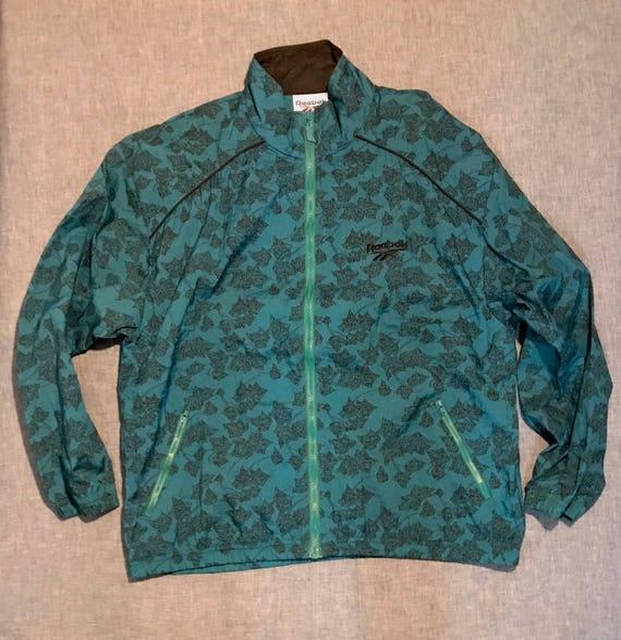 90'S REEBOK Leaf print Windbreaker - image 1