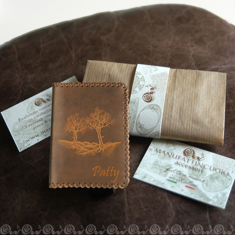 Credit card holder in leather 4  6  8  10 pockets x2 image 0