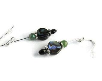 Abalone Earrings, Abalone Shell Earrings, Reflections Of the Sea, Opalescent Earrings, Blue Green Earrings, Shell Earrings, Abalone Jewelry
