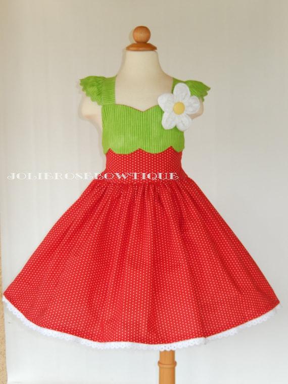 Strawberry dress, Strawberry birthday party, Strawberry outfit, Strawberry shortcake dress, watermelon dress, lemonade outfit