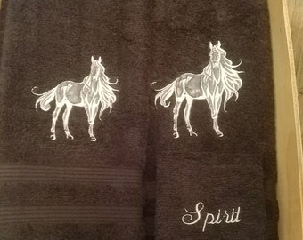 HORSE /& WESTERN GIFTS HOME DECOR BATHROOM KITCHEN HORSES PRINT LARGE HAND TOWEL