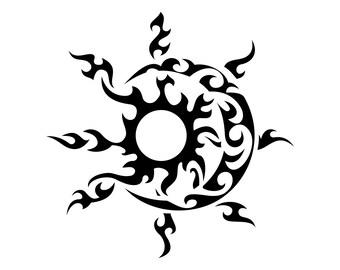 Line Art Of Sun : Sun moon stars svg etsy