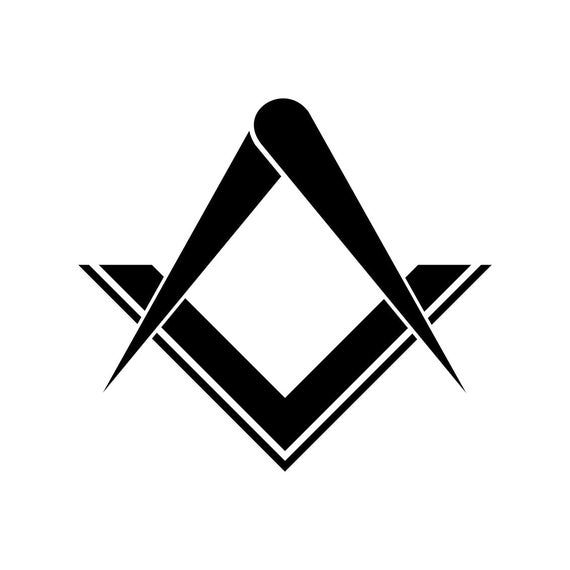 Freemasonry Freemasons Masonic Symbol Svg Cricut Silhouette Etsy