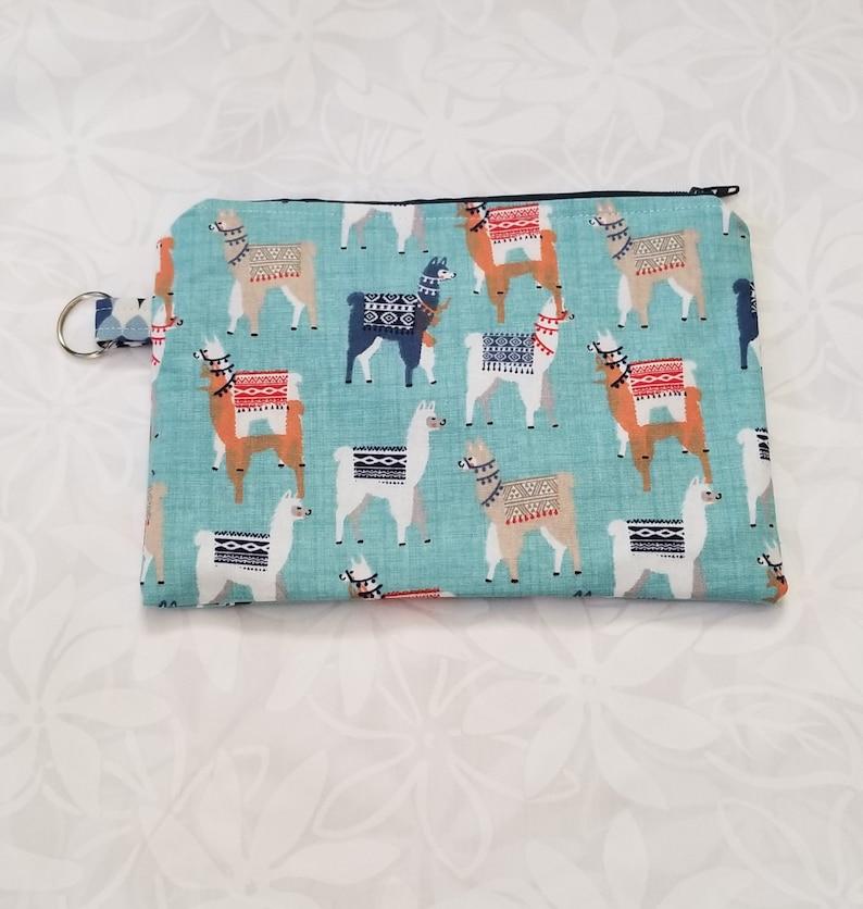 Llama Zipper Pouch Key Chain Makeup Bag Pencil Case