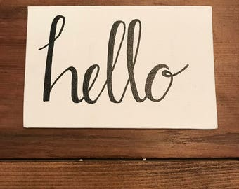 personalized hand lettering sign