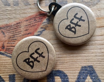 Best Friend Button and Pet Tag Combo