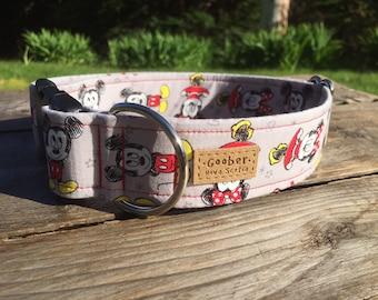 Vintage Mickey and Minnie Dog Collar, Disney