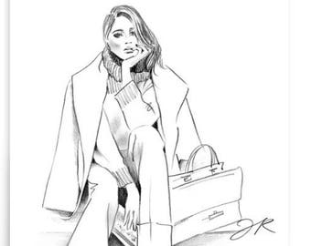 Meghan Markle Fashion Style Illustration Poster
