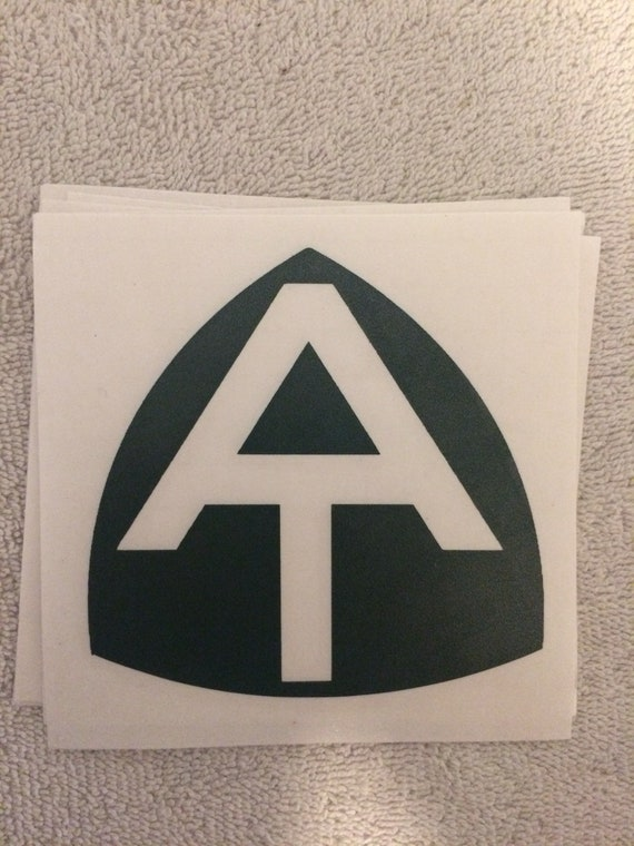2 for 1 AT Appalachian Trail Hike Hiking sticker decals Black and White