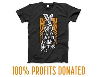 Every Child Matters Orange Shirt Day in Black - Indigenous Owned - 100% Profits Donated
