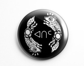 "Native Puppy Love - 2.25"" Button"