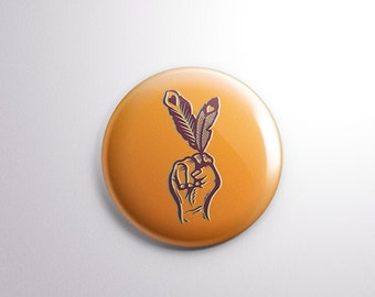 "2.25"" Indigenous Rebel Button"