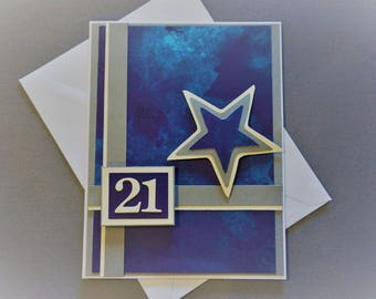 Blank Greeting Card, Handmade Card, Birthday Card, Stationery Card