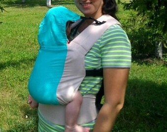 Mint dots Soft Structured Carrier hot summer BabyLove ergo Buckle baby Carrier