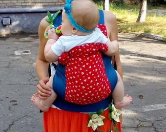 Toddler Hearts Buckle baby Carrier BabyLove Soft Structured Carrier ergo for hot summer